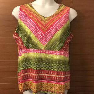 Multiples Tops - Multiples Sleeveless Shirt sz 1X ~ A104